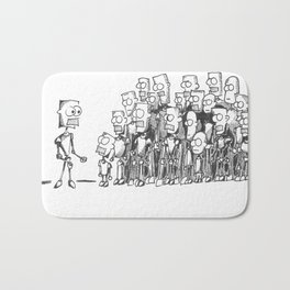 Robot Gathering Bath Mat