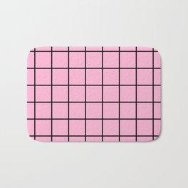 Rose Quartz Grid Bath Mat
