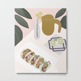 Still Life Tacos Metal Print