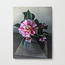 Japanese Flower Arrangement, Nara, Japan Metal Print