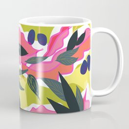 Fibonacci Pink Leaves Coffee Mug
