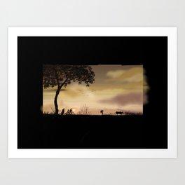 63- Kerala Sunset and landscape Art Print