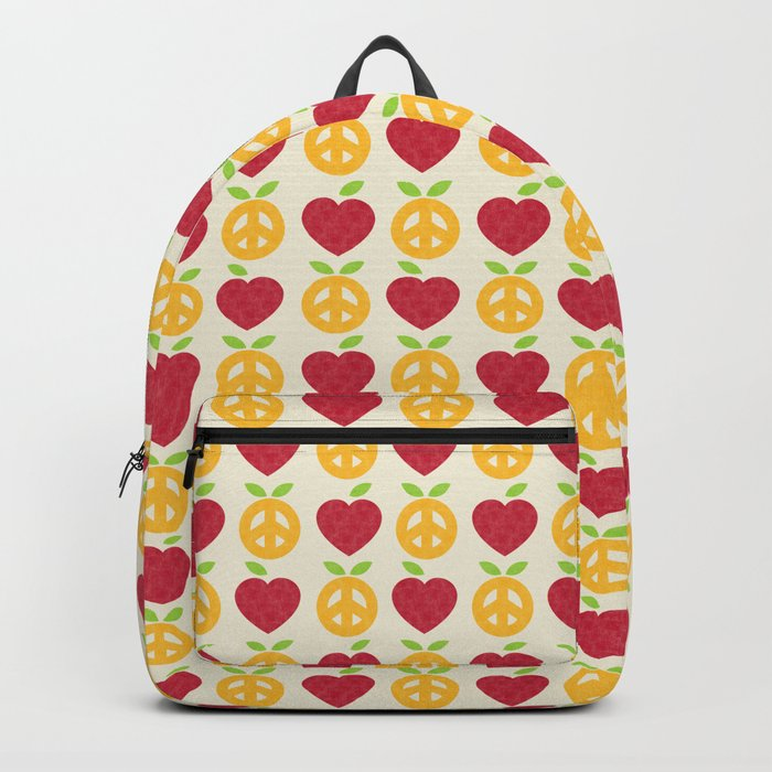 Apple and Orange - Love and Peace Backpack