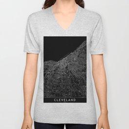 Cleveland Black Map Unisex V-Neck
