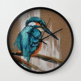 Little Blue One Wall Clock