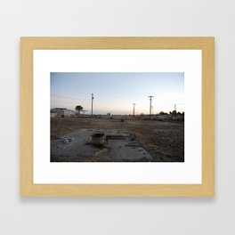 Airstream in Marfa, Texas. Framed Art Print