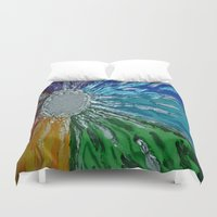 chakra Duvet Covers featuring Chakra Healing by Pixie Willow Art Designs