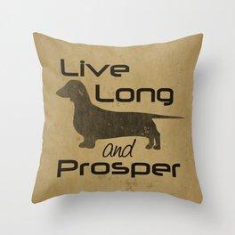 Live Long - Smooth, Coat, hair, Dachshund Love Throw Pillow