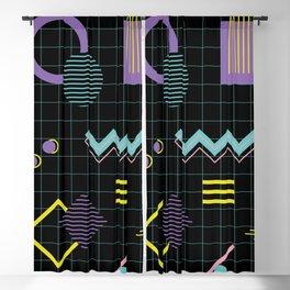 Memphis Pattern 4 - 80s Retro Blackout Curtain