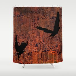 Ecotone (night) Shower Curtain