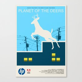 Planet of the Deers Canvas Print