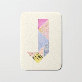 Collaged Tangram Alphabet - J Bath Mat