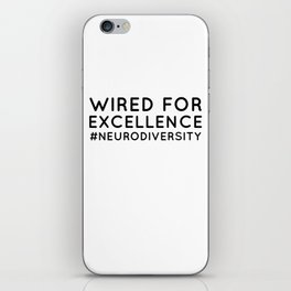 Neurodiversity Autism Awareness T shirt iPhone Skin