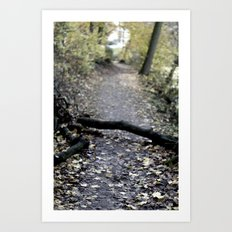something in the way. Art Print