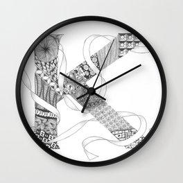 """Zenletter """"K"""" Wall Clock"""