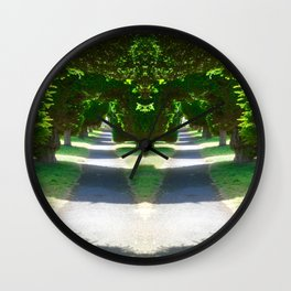 Two Paths Diverge Wall Clock