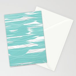Lines and Waves Stationery Cards