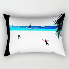 Borocay Beach Dive - Happy Place Rectangular Pillow