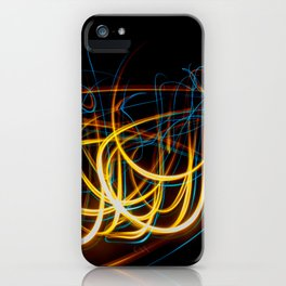Abstract Orange and Blue Light Effect iPhone Case