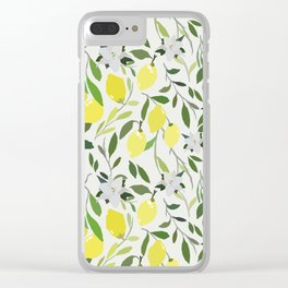 Lemon Fresh - Off White Clear iPhone Case