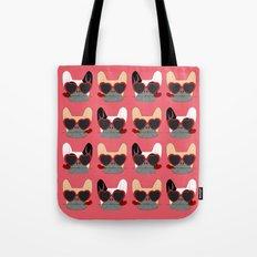 Valentines Bulldogs Tote Bag