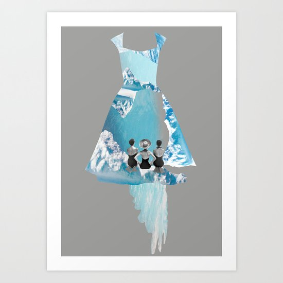 Filled with blue Art Print