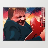 marty mcfly Canvas Prints featuring Marty McFly by Stephanie Keir