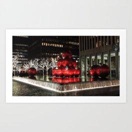 NYC Holiday Decorations 2010 Art Print