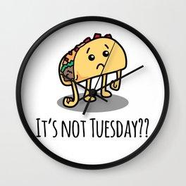 Not Taco Tuesday Wall Clock