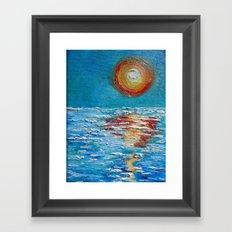 Impasto Sunrise Framed Art Print
