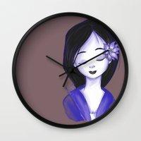 mulan Wall Clocks featuring Mulan by Lilolilosa