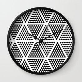 Geometric Modern Black and White Pattern Wall Clock