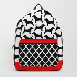 Black Beagle Silhouettes Pattern Backpack