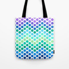 Dot Chevron: Blue Purple Tote Bag