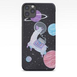 The astronaut llama iPhone Case