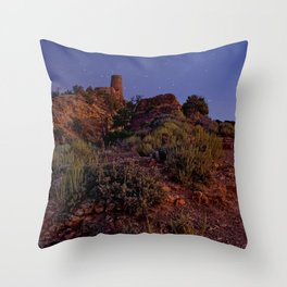 Watch Tower at Grand Canyon after sunset Throw Pillow