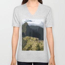 Machu Picchu Unisex V-Neck