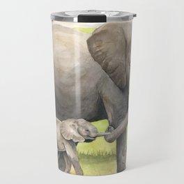 African Elephants Travel Mug