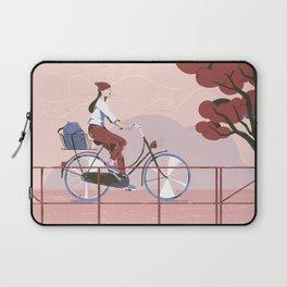 Biking to work Laptop Sleeve