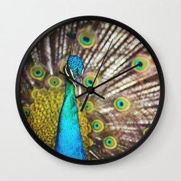 Describe Beauty: Peacock Wall Clock