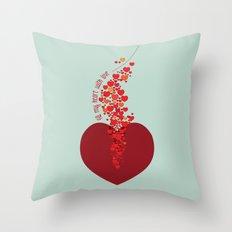 love overflow Throw Pillow