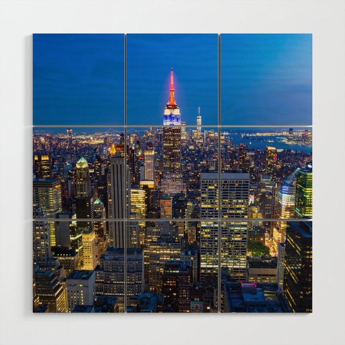 Manhattan - New York Wood Wall Art