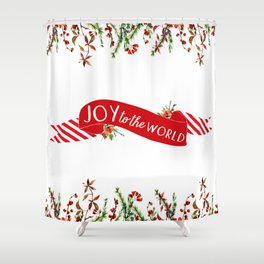 Joy to the World Banner Shower Curtain