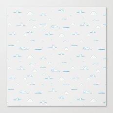 Polar Bear Hunting Canvas Print
