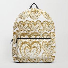Gold Love heats - Pattern 4 Backpack