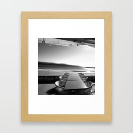 Winter desertion Framed Art Print