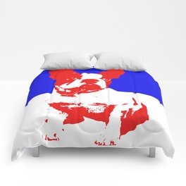 French Bulldog pop art Comforters