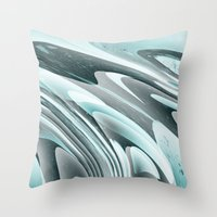 ice Throw Pillows featuring Ice by Casey
