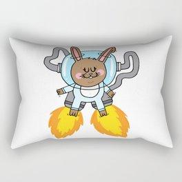 Space bunny Rectangular Pillow