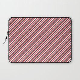 Red Inclined Stripes Laptop Sleeve